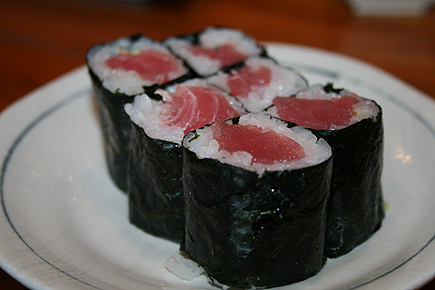 Despite the simplicity of this tuna roll, it still boasts great texture and flavor.