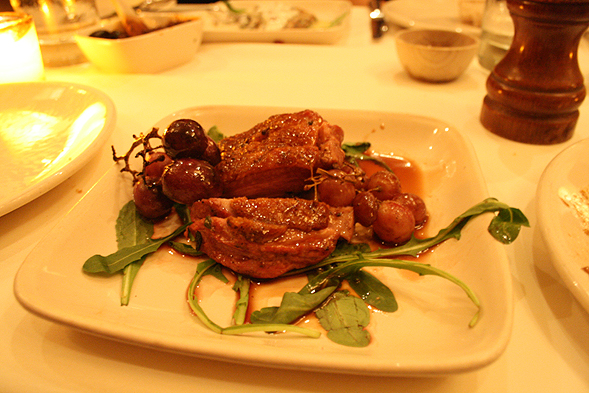 Liberty Ranch Duck with Roasted Grapes & Abbemelle $17