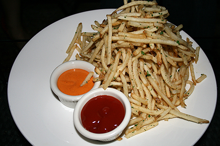 Shoe string fries are always a crowd pleasure!