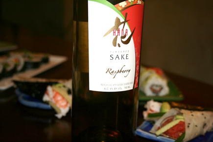 You can't eat good sushi without some sake on the side. I bought this Raspberry Sake a few weeks ago, and was glad to use it for last night's meal. All in all, it was fun, fulfilling, and fabulous. Cheers to my 27th & to the first time preparing sushi!