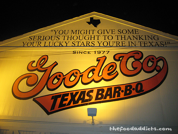 On Friday night, we were trying to figure out what to eat for dinner, and after Yelping and remember a friend's request, we ended up at Goode Co Texas Bar-B-Q. It's a cafeteria-style restaurant that offers affordable BBQ.
