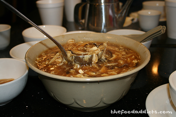 This sweet & sour soup is so flavorful - not to mention spicy! It's definitely a great way to start the meal.