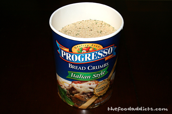 This is the Progresso Italian breadcrumbs that we had on hand - we buy in bulk from Costco, hehe.