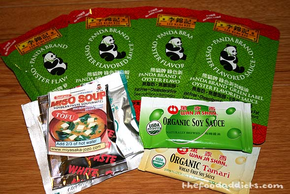 A lot of Asian companies were represented at the Expo, and they provided some very cool samples. I already used the Miso Soup one!