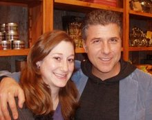 Here's a picture of our winner Sara, posing with Michael Chiarello from The Food Network. So cute!!
