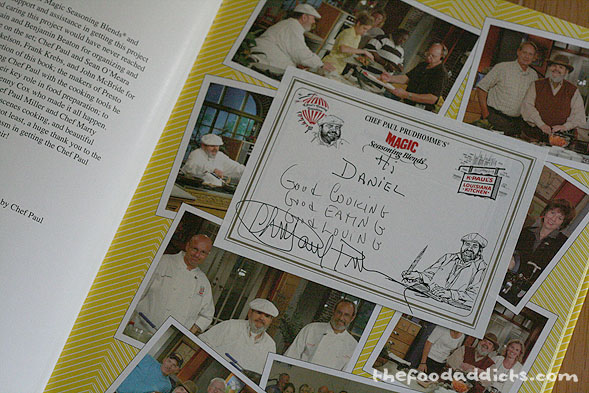 Daniel received a book signed by Chef Paul himself!