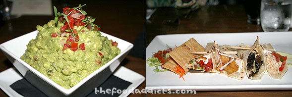 The starter was a generous serving of Avocado Guacamole served with crispy corn chips. For the appetizer, we had a Taqueria tasting platter that included steak, ahi tuna, plantain, chicken adobo, and fish.