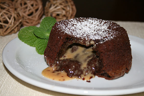 Molten Lava Mint Chocolate Cake with Peanut Butter Filling | The Food ...