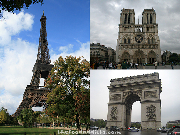 We spent 4 glorious days in Paris visiting famous monuments like The Eiffel Tower, Notre Dame, and Arch de Triomphe (as shown). Paris was my favorite city because of the picturesque landscape, the easy transportation system, and simply the serene romanticism of being in Paris.