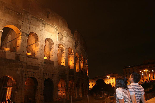The next stop was Rome, Italy! This city definitely had the most history and ancient ruins to prove it. We spent 4 nights here and had an awesome time learning about the history and culture of the Romans. One of my favorite pictures is the one where we were both enjoying the sheer amazement of the Colosseum at night. Rome was a great city and we walked everywhere! I guess all roads do lead to Rome, huh?