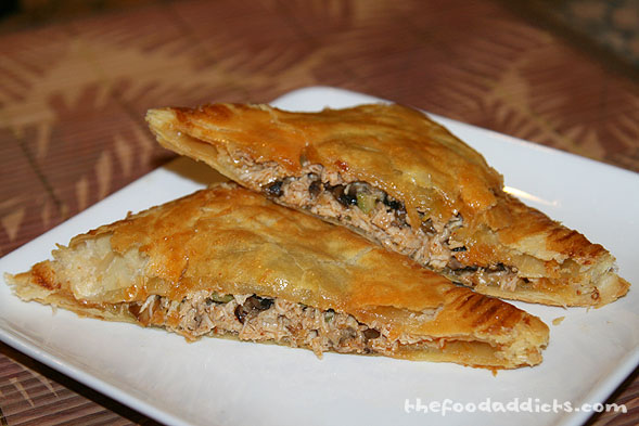 We had no idea what the overall taste would be when we came up with the idea, but it definitely turned out to be a winner. It's a burst of flavor from the moist chicken, spicy cheese, tasty mushrooms, and crunchy celery - all mixed with the delicious hot sauce. The puff pastry ties it all together by giving it that wonderful buttery flavor.