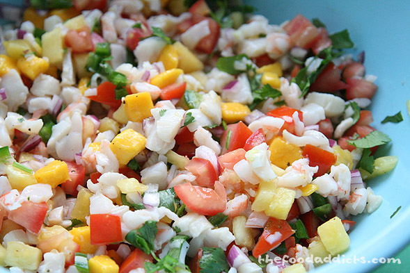... click here: Tropical Ceviche with Shrimp, Scallop, Mango and Pineapple