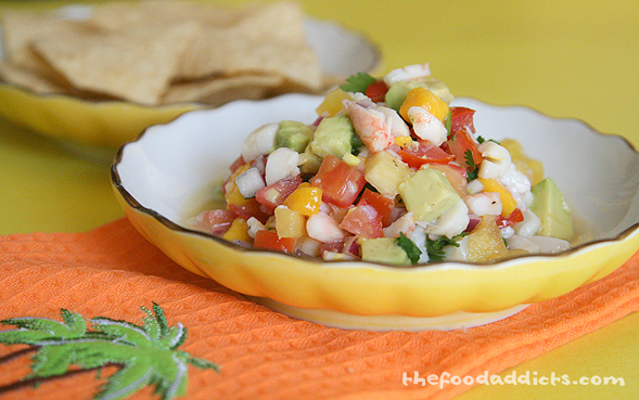 Tropical Ceviche with Shrimp, Scallop, Mango and Pineapple | The Food ...
