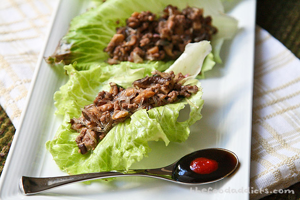 These Beef and Shiitake Lettuce Wraps are fun to eat because you basically help yourself at the dinner table. There's not much fuss in making this simple dish and it's up to your imagination on what ingredients you want to use, like chicken instead of beef, or bamboo shoots instead of shiitake mushrooms. Either way, when you want to have a low-carb meal, this is definitely the way to go!