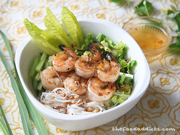 Grilled Lemongrass Shrimp Vermicelli