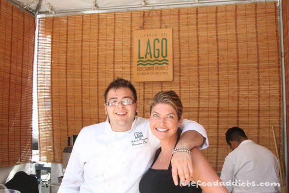 We captured this photo of Roberto Maggioni, the Executive Chef at Lago. He and his staff prepared Parmesan Gelato (this was an interesting flavor) and Lingua in Salsa Verde (Braised Beef Tongue with Fresh Parsley Pesto). I actually liked the braised beef tongue!  